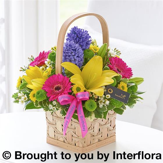 Happy Birthday Scented Splendour Basket