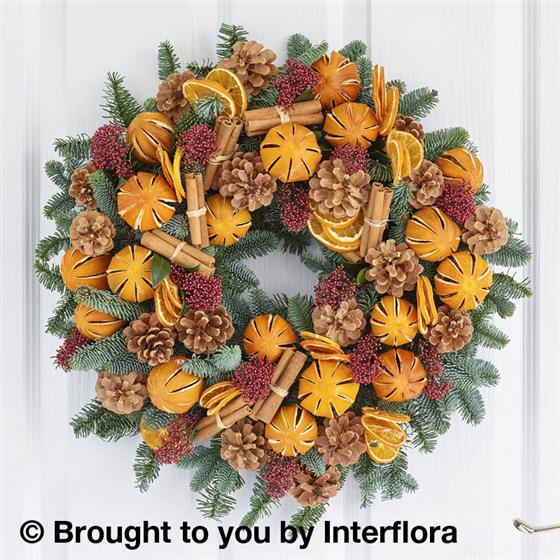 Clementine Door Wreath